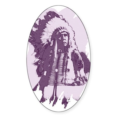 Indian Chief Oval Sticker