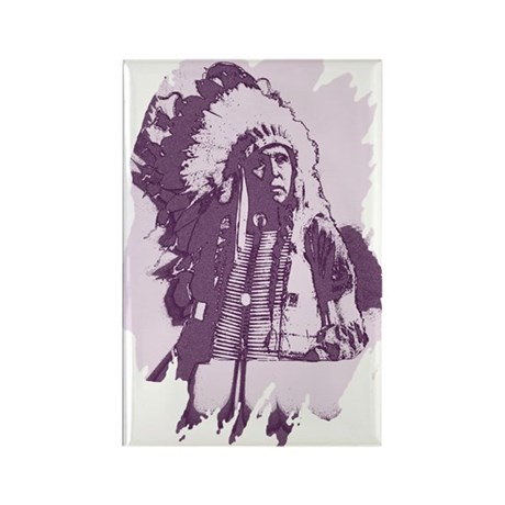 Indian Chief Rectangle Magnet (10 pack)