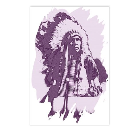 Indian Chief Postcards (Package of 8)