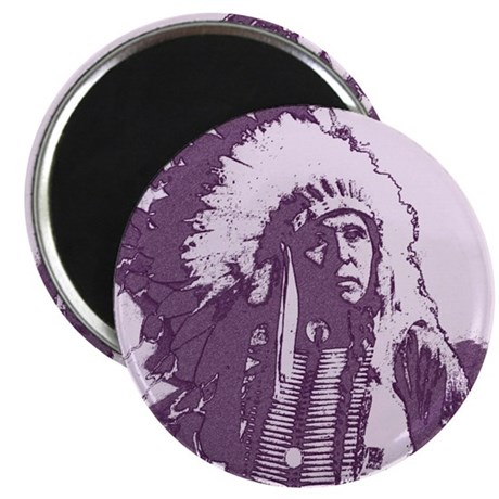 "Indian Chief 2.25"" Magnet (100 pack)"