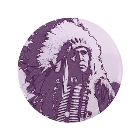 "Indian Chief 3.5"" Button (100 pack)"