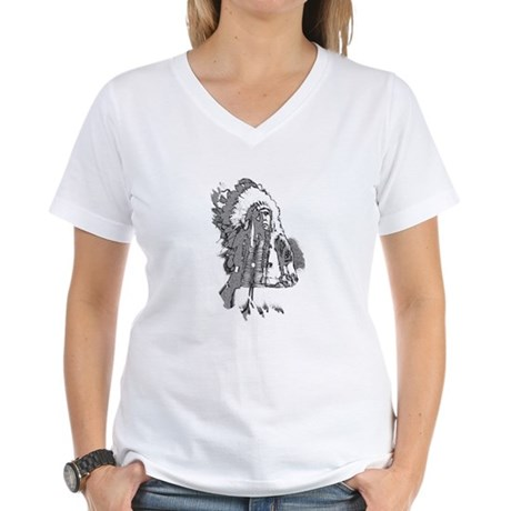 Indian Chief Women's V-Neck T-Shirt