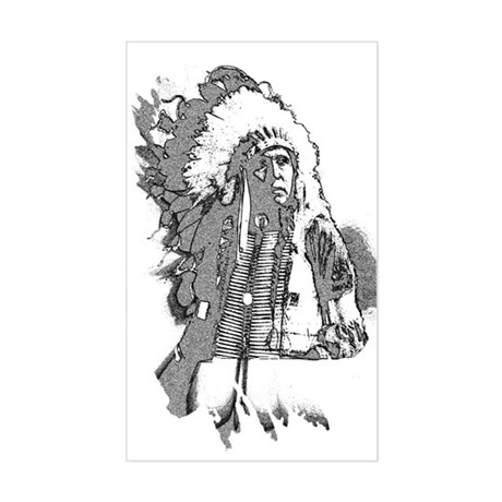 Indian Chief Rectangle Sticker