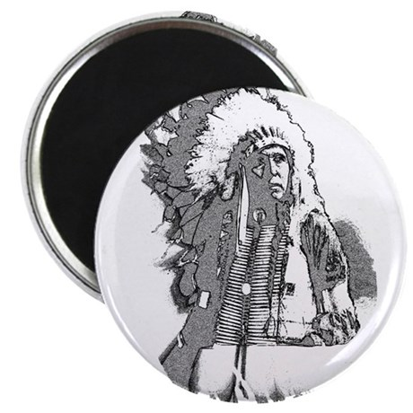 "Indian Chief 2.25"" Magnet (10 pack)"
