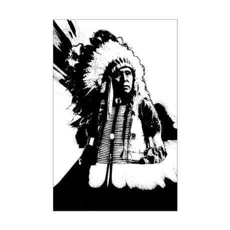 Indian Chief Mini Poster Print