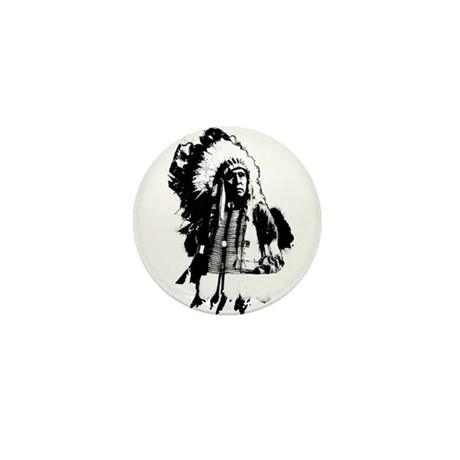 Indian Chief Mini Button (100 pack)
