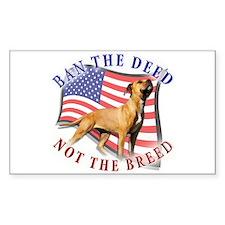 Ban the deed not the breed de Sticker (Rectangular