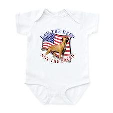 Ban the deed not the breed de Infant Bodysuit