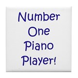 #1 Piano Player Tile Coaster