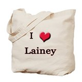 I Love (Heart) Lainey Tote Bag