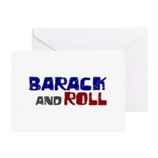 Barack and Roll (Obama) Greeting Card