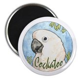 Cockatoo Nouveau 2.25&quot; Magnet (10 pack)
