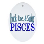 Pisces Oval Ornament