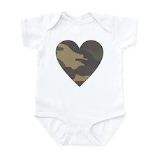 Valentine Camo Heart Infant Bodysuit