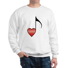 Valentine Music Note Heart Sweatshirt