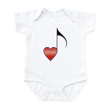 Valentine Music Note Heart Onesie