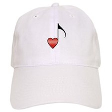 Valentine Music Note Heart Baseball Cap