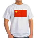 Burn This Flag (China) Ash Grey T-Shirt