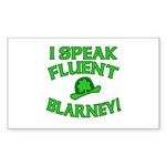 I Speak Fluent Blarney Sticker (Rectangle)