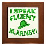 I Speak Fluent Blarney Framed Tile