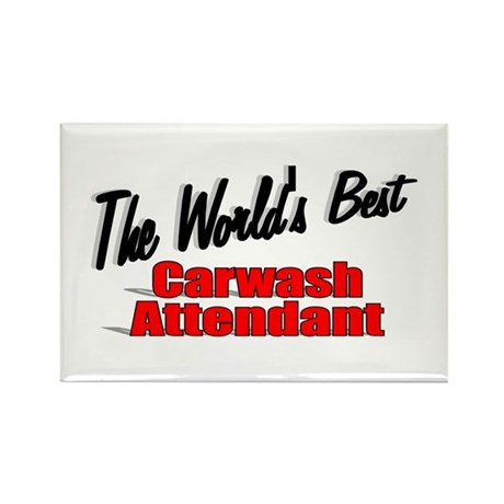 """The World's Best Carwash Attendant"" Rectangle Mag"