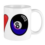 I Love 8 Ball Small Mug