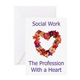 Social Work Heart Greeting Card