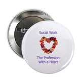 Social Work Heart 2.25&quot; Button