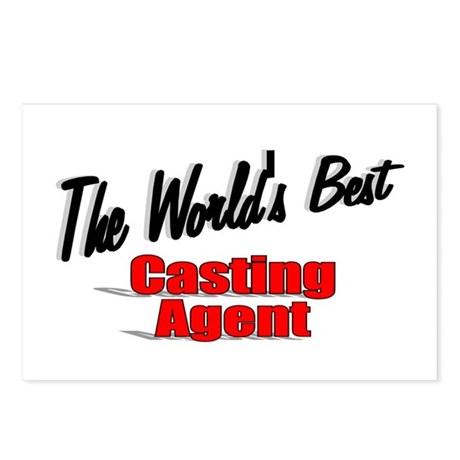 """The World's Best Casting Agent"" Postcards (Packag"