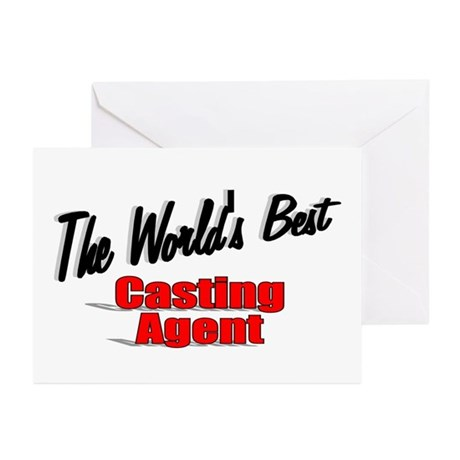"""The World's Best Casting Agent"" Greeting Cards (P"