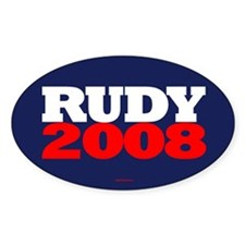 Rudy Giuliani Campaign Logo Oval Decal