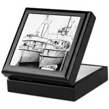 "Fishing Boat ""In Their Shadows"" Keepsake Box"