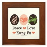 Peace Love Grasshopper Kung Fu Framed Tile
