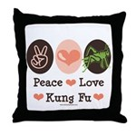 Peace Love Grasshopper Kung Fu Throw Pillow
