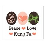 Peace Love Grasshopper Kung Fu Small Poster