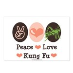 Peace Love Grasshopper Kung Fu Postcards (Package