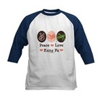 Peace Love Grasshopper Kung Fu Kids Baseball Jerse