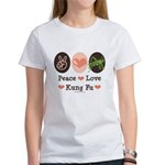 Peace Love Grasshopper Kung Fu Women's T-Shirt