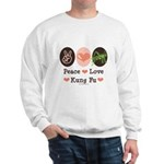 Peace Love Grasshopper Kung Fu Sweatshirt