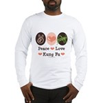 Peace Love Grasshopper Kung Fu Long Sleeve T-Shirt