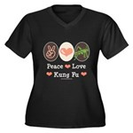 Peace Love Grasshopper Kung Fu Women's Plus Size V