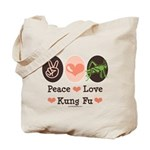 Peace Love Grasshopper Kung Fu Tote Bag