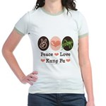 Peace Love Grasshopper Kung Fu Jr. Ringer T-Shirt