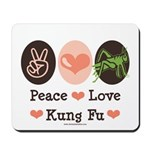 Peace Love Grasshopper Kung Fu Mousepad