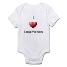 I Heart Social Workers Infant Bodysuit
