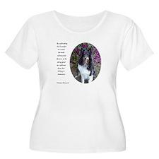 Sheltie in the flower garden T-Shirt