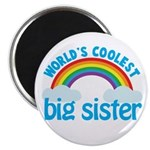 world's coolest big sister rainbow Magnet