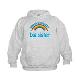 world's coolest big sister rainbow Hoody