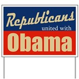 Republicans with Barack Yard Sign