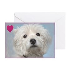 Most Loyal Westie Valentine Greeting Cards (Pk of